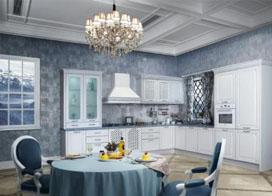 越来越多人喜欢欧式厨房装修效果图