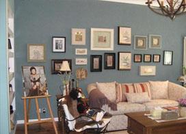 110平地中海风格三居室效果图