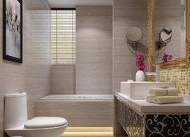 干净整洁的浅色系家装卫生间效果图