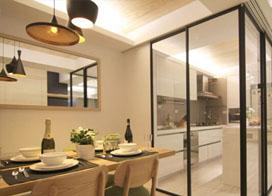 超级实用的厨房玻璃门图片