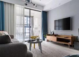 装修效果图现代简约 两居室装修案例