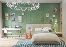 20款儿童房背景墙效果图,拼的是爹妈的想象力