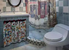 干湿分离家装卫生间效果图欣赏