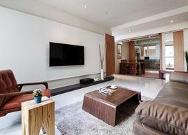 124平米新中式风格三室两厅室内装修设计效果图