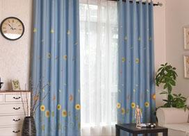 绣花窗帘效果图片欣赏
