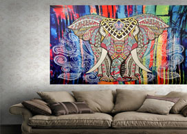 色彩绚丽的墙壁挂毯装饰效果图,重塑空白墙壁