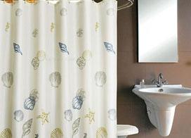卫生间浴帘图片,狭小空间趣味无穷