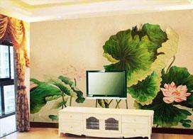 手绘电视背景墙图片,不一样的装饰效果