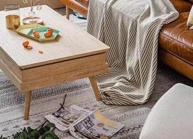 客厅地毯图片,好看的地毯可以提升居住舒适度