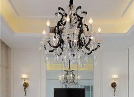 一组好看的餐厅水晶吊灯效果图片欣赏