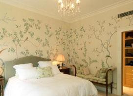 10款利于睡眠的浪漫卧室壁纸装修效果图