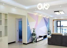 手绘电视墙简直太美了,89平米现代简约风装修效果图