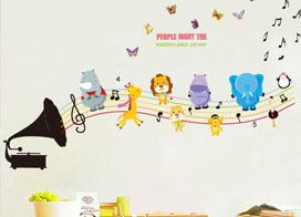 幼儿园墙壁卡通画效果图欣赏
