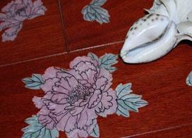 有个性的青花地板效果图片欣赏
