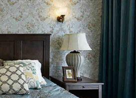 卧室复古碎花壁纸效果图片展示