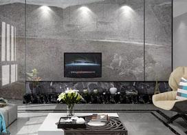 现代灰色时尚经典石纹背景墙效果图片