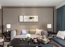 拐角书柜设计巧妙,128平米现代风三居室装修效果图