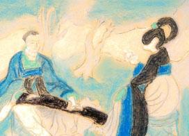 临摹敦煌壁画手绘壁画图片欣赏