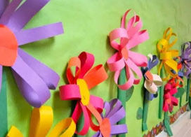 春天主题幼儿园教室墙壁布置效果图片