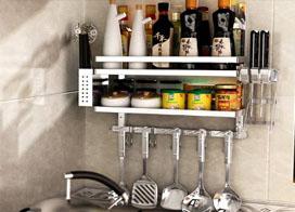 非常实用的厨房用品置物架图片展示