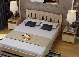 15款好看的实木床图片欣赏