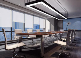 400平米现代化办公室会议室装修效果图