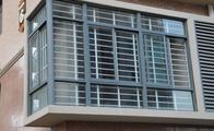 锌合金防盗窗的安装方法