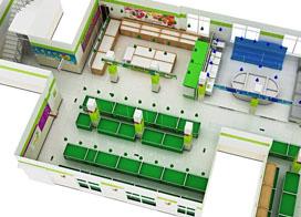9张超市设计平面图,充分考虑众多方面的因素