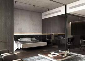 高级灰色单身公寓装修设计效果图片