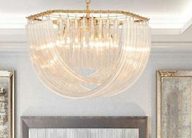 奢華的大型水晶吊燈效果圖片