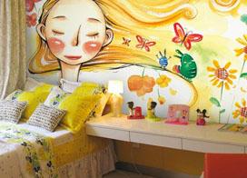 11款有特色的室内壁画效果图片