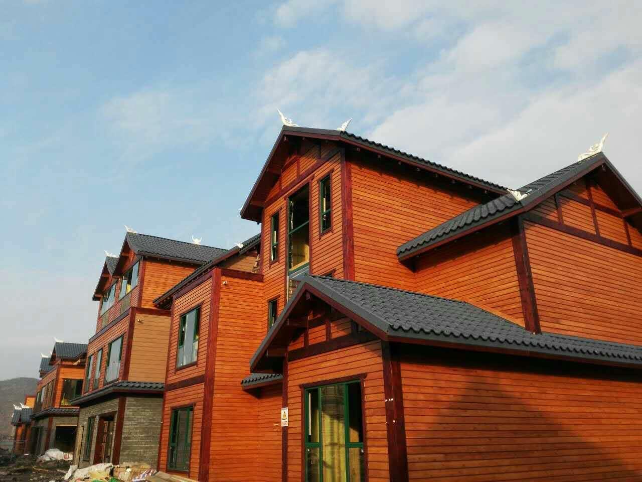 园方新型梁柱式木结构房采用整体