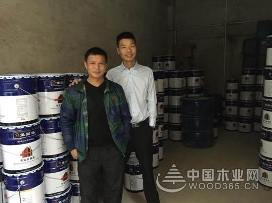 南康区家具漆经销商方总到广东堡润漆参观考察