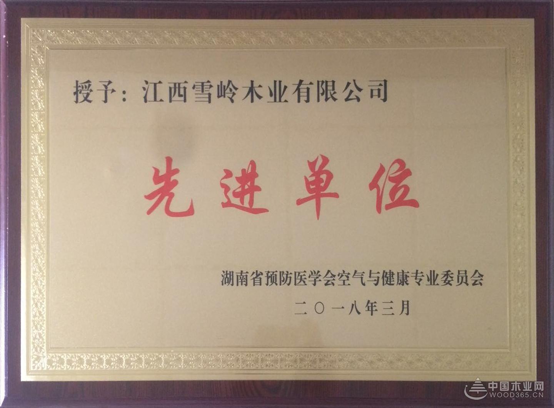 """实力所致 江西雪岭木业荣获""""先进单位""""称号"""