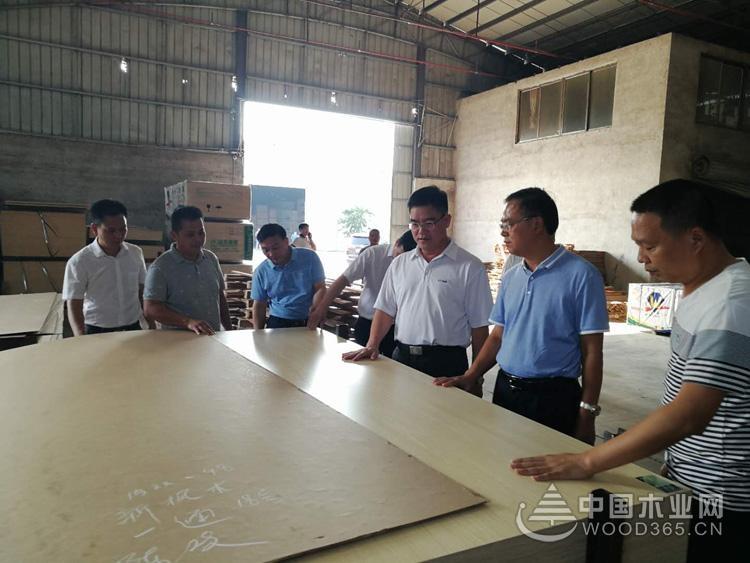 钦州市委领导莅临昌宏木业总部视察指导