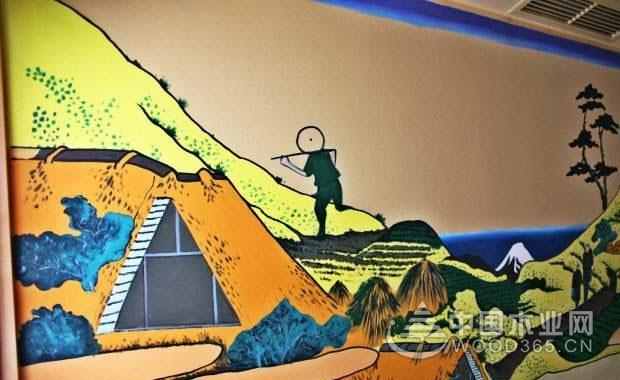 文化知识和广告都可以用墙体壁画表现