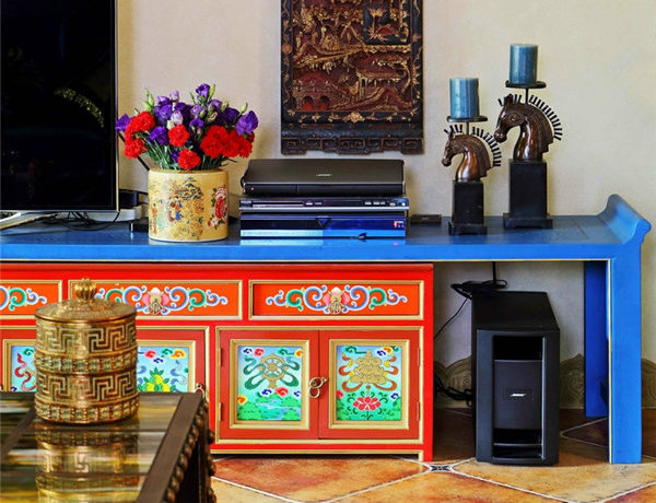 多种色彩混搭风格别墅装修效果图4