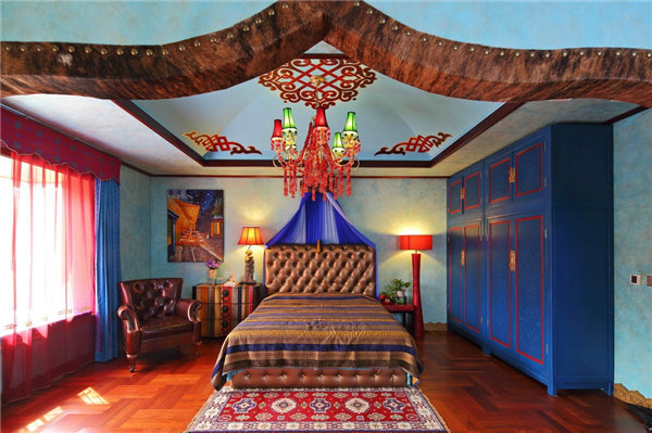 多种色彩混搭风格别墅装修效果图7