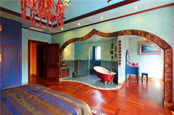 多种色彩混搭风格别墅装修效果图10