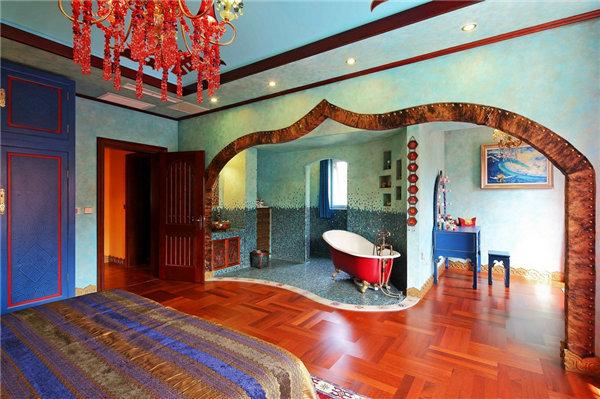 多种色彩混搭风格别墅装修效果图11