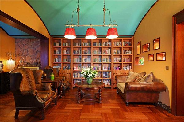 多种色彩混搭风格别墅装修效果图14