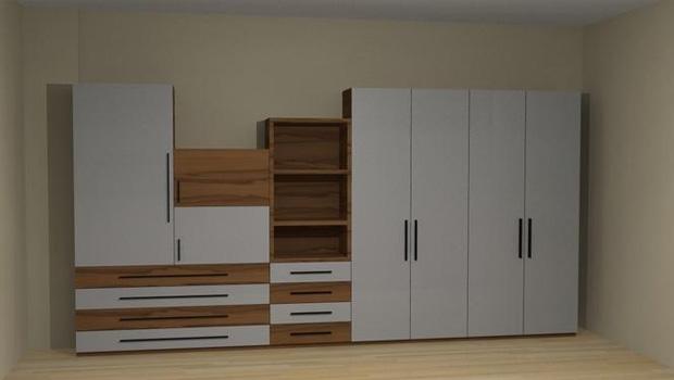 现场做的衣柜一般都是木工衣柜
