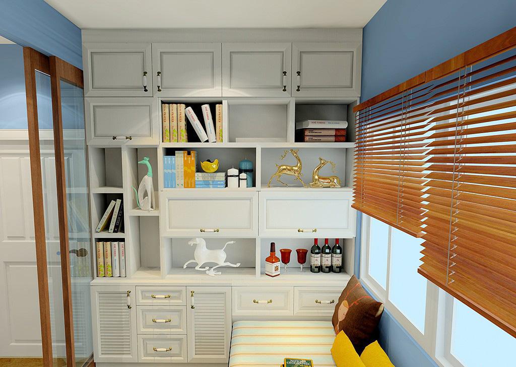 这个书房区域的设计可以说满足了书房的基本功能,飘窗榻榻米的组合设计,成为这个空间的特色所在,其实也是一个非常独特的社交空间。钴蓝色与纯黄色的搭配看上去非常抢眼,这样的点缀搭配新柚木色的百叶窗,有一种地中海的风格。 客厅窗帘效果图大全2016图片之设计风格展示满足了品位与生活的双重需求,是非常不错的选择。色彩缤纷的设计往往可以让思绪飞扬,时尚个性的主题让空间变得更美。