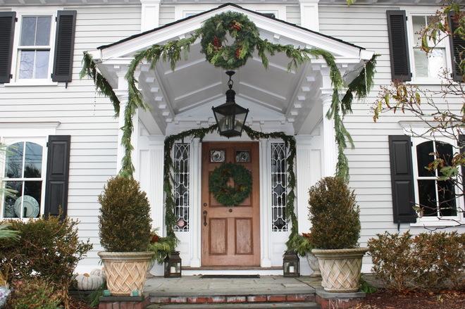 温馨可爱装饰大门图片,圣诞节门头装饰设计