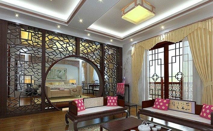 半开放式的空间:客厅卧室隔断设计