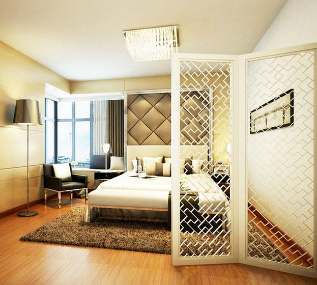 保持卧室私密性 18款个性客厅隔断设计图