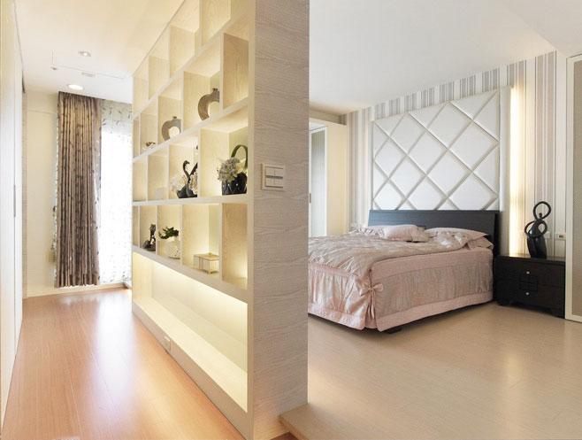 保持卧室私密性 18款个性客厅隔断设计图图片