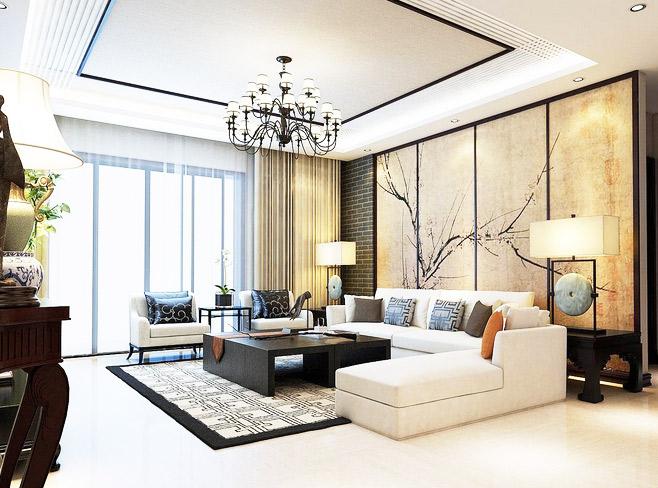 9款古色古香中式客廳瓷磚裝修效果圖