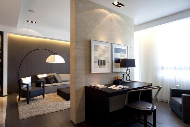 15款客厅隔出小书房设计效果图图片