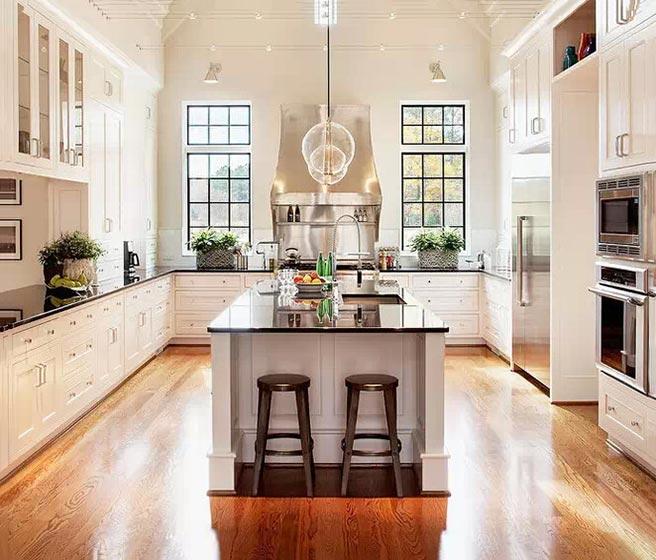10个开放式厨房装修效果图